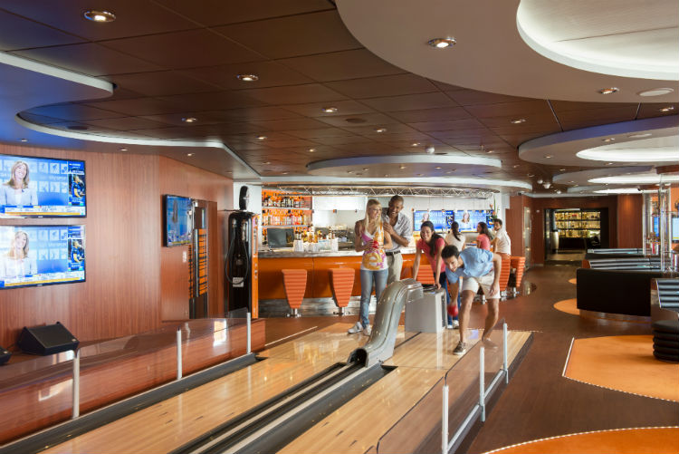 Bowling on MSC Cruises