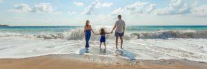 Family on a beach holiday