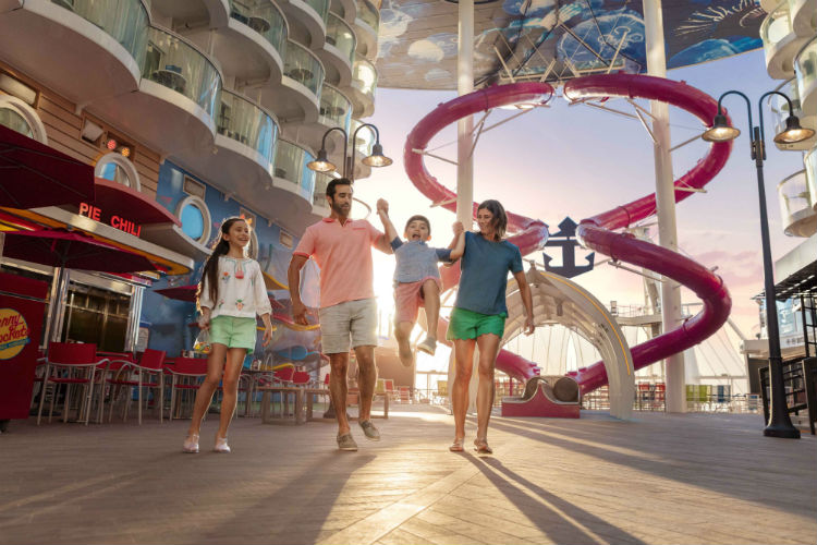 Family on the Boardwalk - Royal Caribbean
