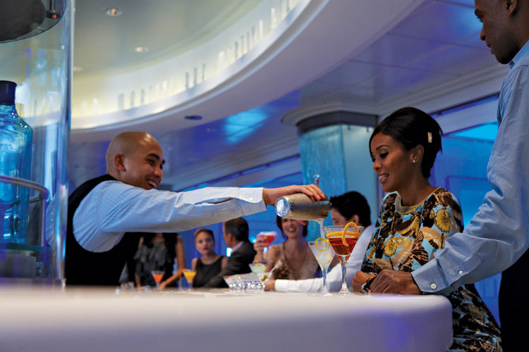 Bar staff on-board Celebrity Cruises
