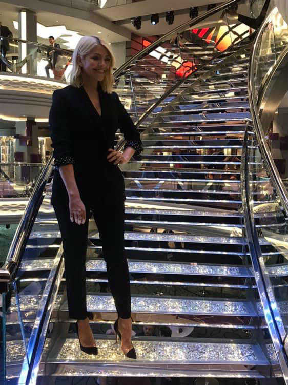 Holly Willoughby on-board MSC Bellissima