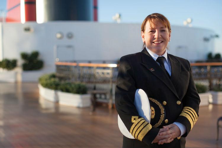 Cunard female captain - Inger Klein Thorhauge