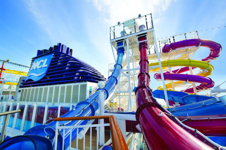 Norwegian Breakaway - The Whip slide