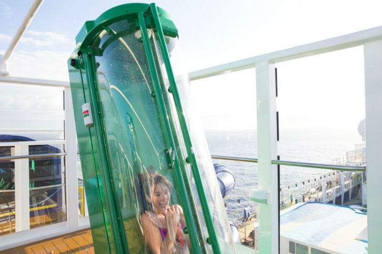 Norwegian Escape - Free Fall slide