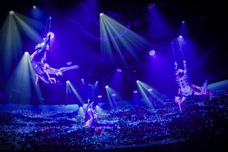 Cirque du Soleil show on-board MSC Cruises