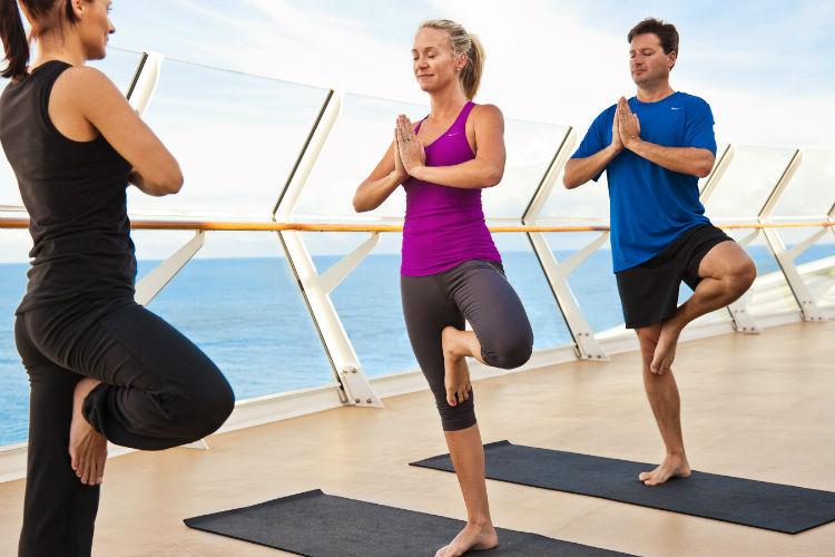 Yoga on-board Royal Caribbean