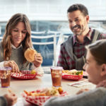 Family dining on-board Princess Cruises