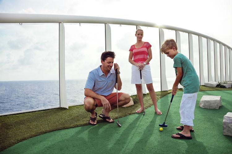 Mini golf course with Royal Caribbean