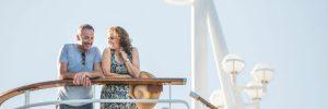 Couple on balcony on P&O Cruises