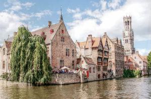 River in Bruges - Belgium