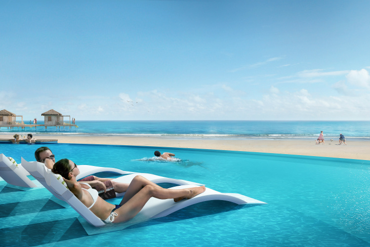 Coco Beach Club Infinity Pool