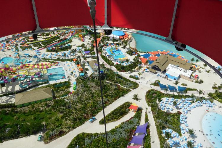 Views from hot air balloon - Royal Caribbean