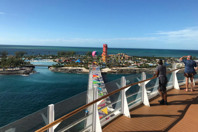 View of CocoCay from Royal Caribbean ship