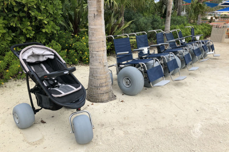 sand wheelchairs on CocoCay