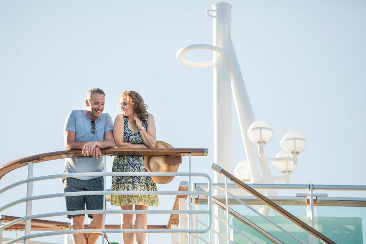 Couple on balcony - P&O Cruises