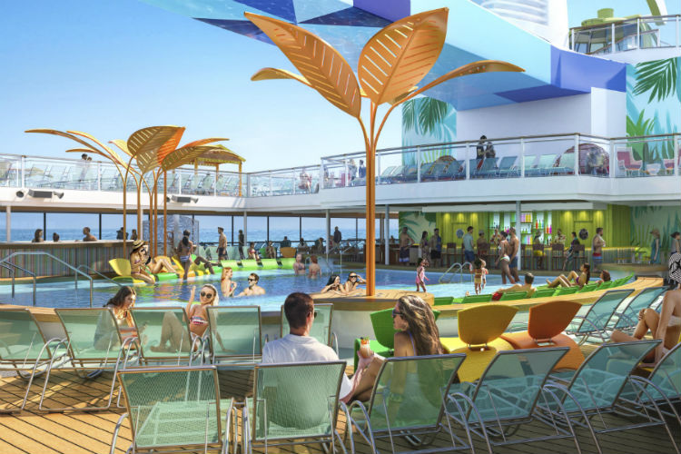 Pool on-board Odyssey of the Seas - Royal Caribbean