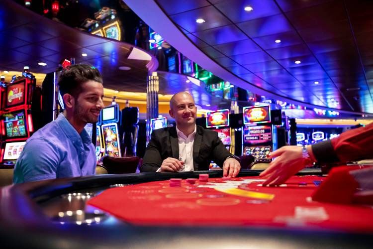 Casino table on-board Royal Caribbean