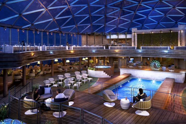 SkyDome - By Night - Iona - P&O Cruises