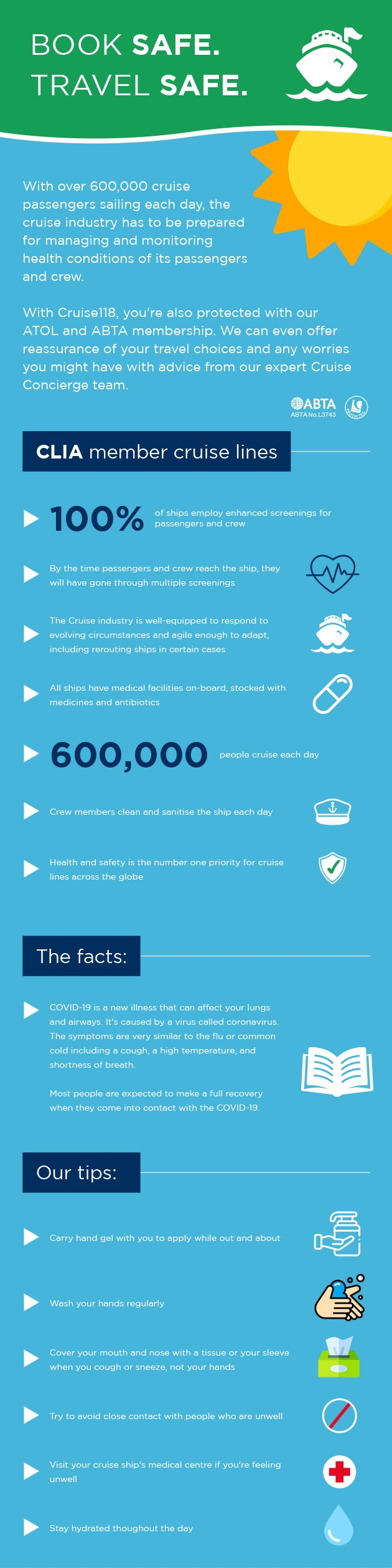 cruise safety infographic