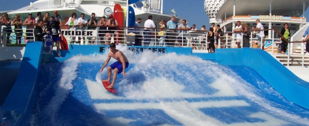 Royal Caribbean's Flowrider surf simulator
