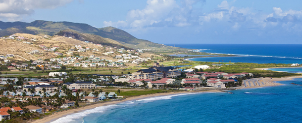 The beauty of St Kitts, ideal for a helicopter tour