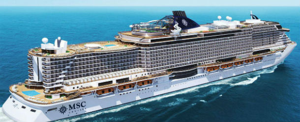 A rendering of MSC Seaside