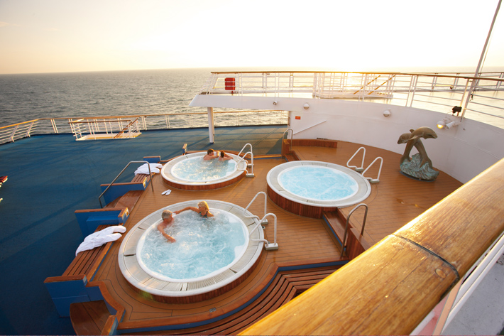 Whirlpool on deck of CMV Marco Polo