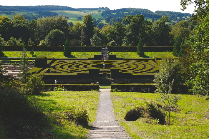 A hedge maze in the grounds of Chatsworth House