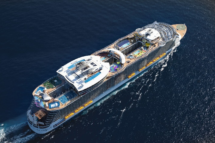 Harmony of the Seas sailing across the ocean: Amazing member of Royal Caribbean fleet