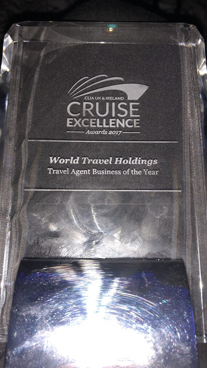 Travel Agent Business of the Year award at CLIA Cruise Excellence
