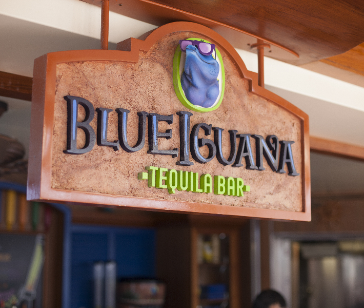 New bar featured on-board Carnival Fascination - BlueIguana Tequila bar