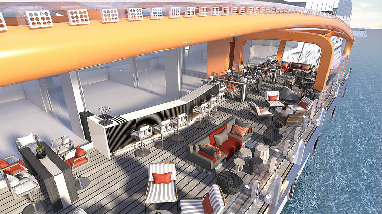 Magic Carpet on-board Celebrity Edge