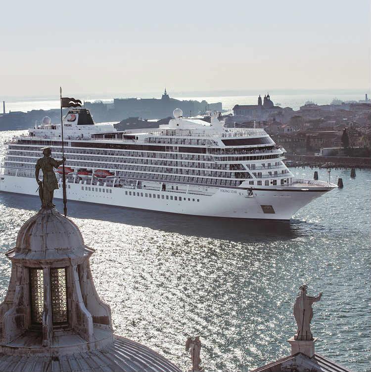 Viking ship sailing through Venice