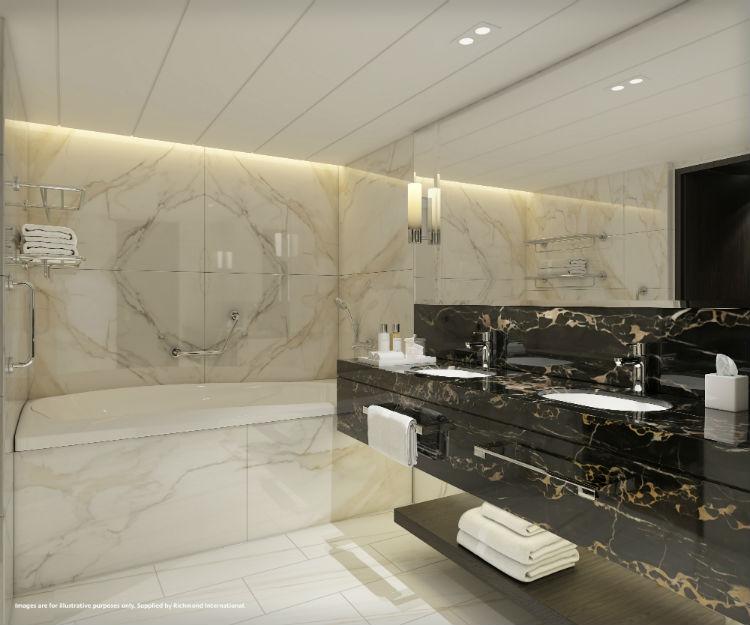 P&O Iona - Aft Suite bathroom