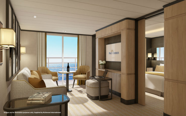 P&O Iona - Aft Suite accommodation
