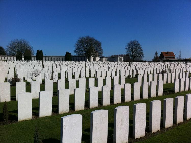 Cemetery in Flanders Field
