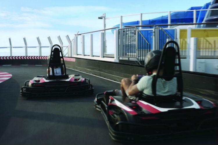 Go kart track - Norwegian Cruise Line