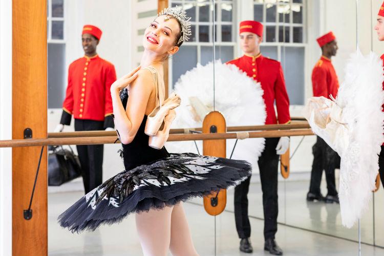 Dancer on-board Cunard - English National Ballet