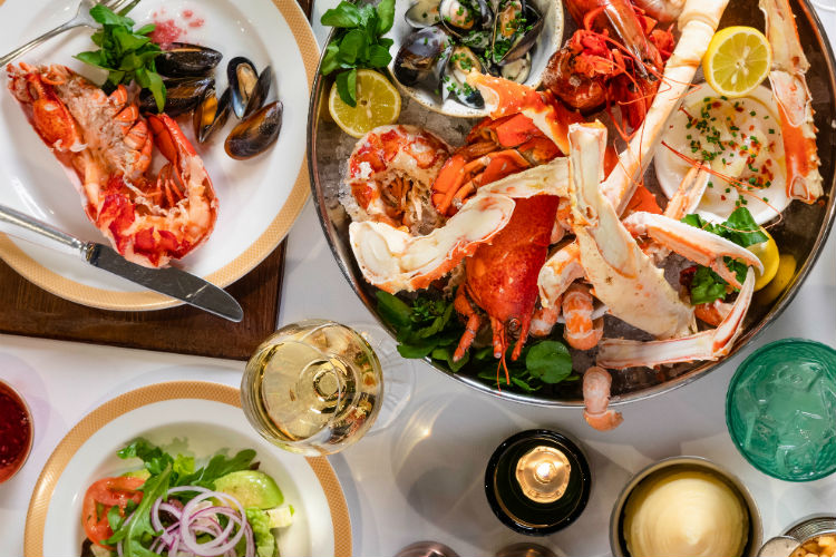 Seafood sharer at the Steakhouse at the Verandah - Cunard